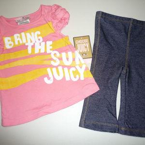 Juicy Couture Baby Sugar Daddy 2PC Leggings Set